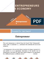 Roll of Entrepreneurs in Indian Economy