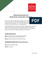 Broan NuTone Range Hoods - Additional Information - ADA Compliance