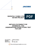 Hydrotest Method Statement 12th Mar 2012 1