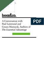 A CONVERSATION WITH Paul Leinwand and Cesare Mainardi