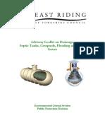 Advisory Leaflet on Septic Tanks