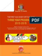 Zambia First 1000 Most Critical Days Programme 2013 2015 (1)