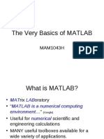 The Very Basics of MATLAB