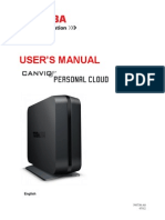 Toshiba Canivo Personal Cloud User Manual English
