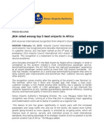 JKIA Rated Among Top 5 Best Airports in Africa