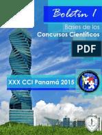 Boletín 1 - XXX CCI Panama 2015