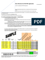 PMP Project Hours Worksheet