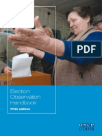 OSCE Election Observation Handbook