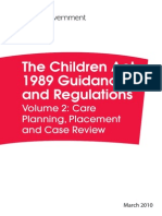 The Children Act 1989 Guidance and Regulation