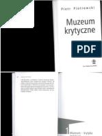 Piotrowski Muzeum Krytyczne 1