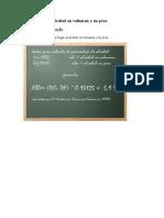 Formulas Para Alcohol en Volumen y en Peso