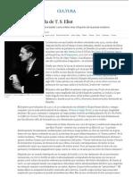 La queja contra la vida de T. S. Eliot   Cultura   EL PAÍS