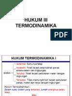 Hukum III Termodinamika
