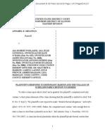 2/13/15 Plaintiff's response to Schiller Park's motion to dismiss (Melongo v. Podlasek et al)