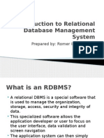 Introduction to Relational Database Management System