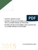 Presupuestos Generales de Canarias 2015