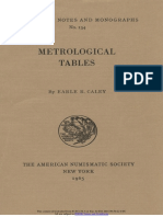 Metrological tables / by Earle R. Caley