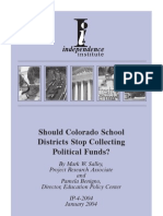 Should Colorado School Districts Stop Collecting Political Funds?