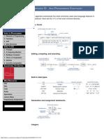 Java Programming Cheatsheet