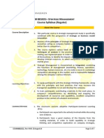 Syllabus Strategic Management