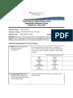 goal setting for student progress form 2014- 2015