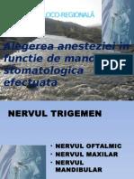 Tehnici de Anestezie in Functie de Manopera