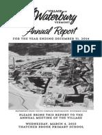 Waterbury Village Report 2014