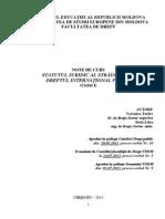 Statutul Juridic Al Strainilor În Dreptul International Public