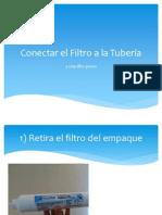 Conectar El Filtro a La Tubería