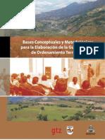 Bases Conceptuales y Metodologicas de Ordenamiento Territorial