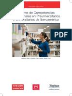 Informe de Competencias Profesionales en Preuniversitarios y Universitarios de Iberoamérica