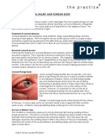 6. Superficial Corneal Injury and Foreign Body