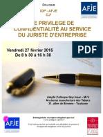 Invitation Colloque Tristan Carayon AFJE