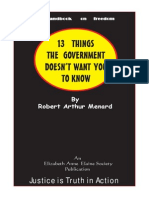 13 Things government doesn't want you to know