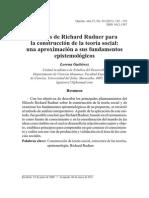 Aportes de Richard Rudner para la construcción de la teoría socialUna aproximación a sus fundamentos epistemológicos