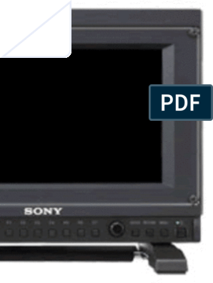 Sony PVM-741 Oled manual   Computer Monitor   Electrical