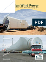 Indian Wind Power Magazine - January 2015  - Wind Energy Components Transportation on Indian Roads