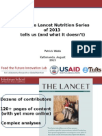 What the Lancet Nutrition Series of 2013  tells us (and what it doesn't), August 2013, kathmandu
