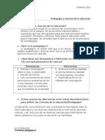 Pedagogía y Ciencias