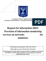 Provision of Information Monitoring (Request for Information)