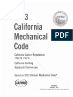 2013 California Mechanical Code