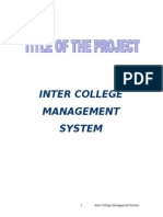 College Management System | Systems Design | Java