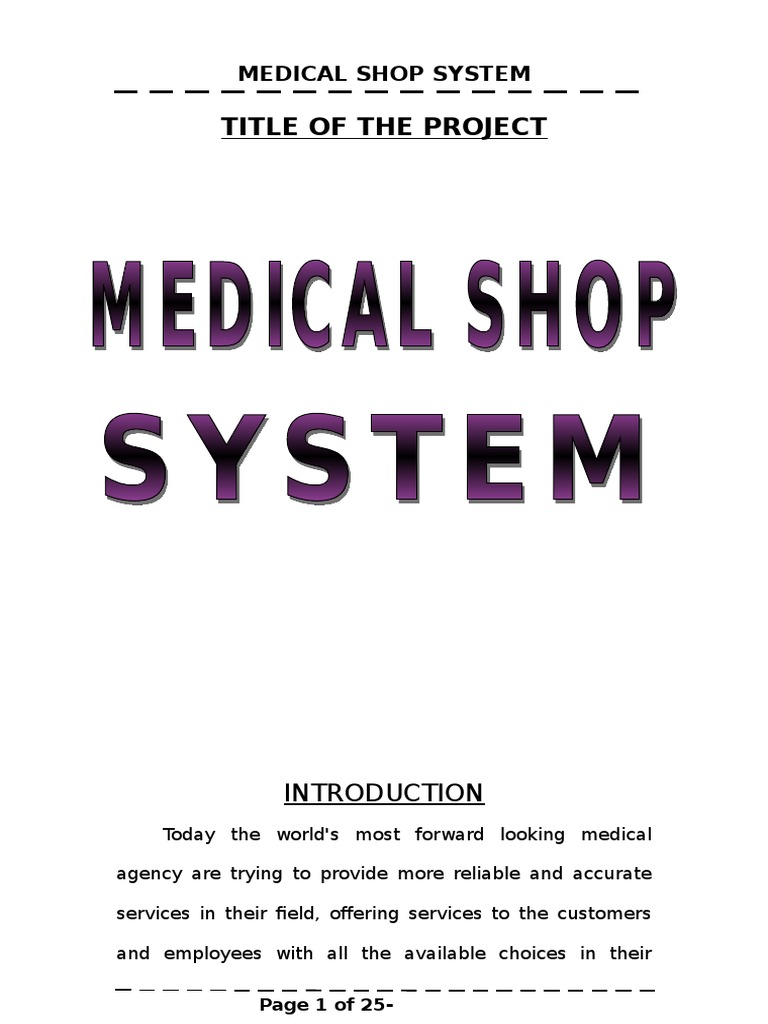 Medical shop management system synopsis java server pages databases ccuart Image collections