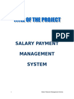 Salary Management System Synopsis
