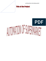 Supermarket Management System Synopsis