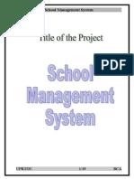school management system project description