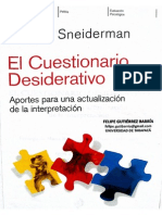Sneiderman, S. (2012). El Cuestionario Desiderativo, Aportes Para Una Actualización de La Interpretación. Paidós.