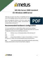 Installing MSSQL Server 2008 on Windows 2008