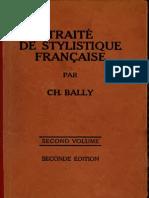 Traité de Stylistique Française. Vol. 2