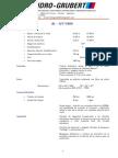 Fiha tecnica Hidro Grubert - BL12T 1000